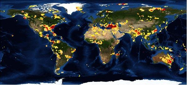 全球干旱监测图